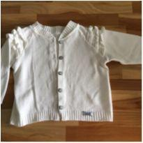 Casaquinho branco off white babadinho - 2 anos - Sem marca