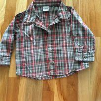 Camisa xadreZ - 6 a 9 meses - Tryol