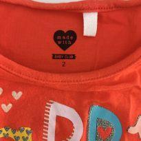 Camiseta manga longa - 2 anos - Baby Club