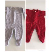 Kit macacao saida maternidade - 0 a 3 meses - Paola Da Vinci