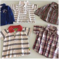 Camisetas e camisas 9a 12 meses - 9 a 12 meses - Diversas