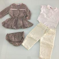 Vestido e conjunto tip top m - 3 meses - Tip Top