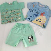 camisetas e shorts baby 9 meses - 6 a 9 meses - Zara e Tigor Baby