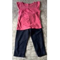 Conjunto Calça Legging + Camiseta Carter´s - 2 anos - Carter`s