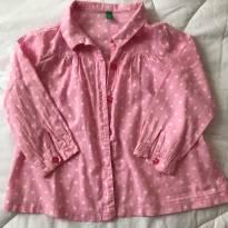 Camisa Rosa - Benneton - 2 anos - Benetton
