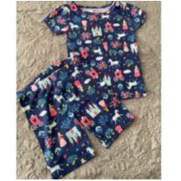 Pijama Azul de Verão - Carters - 4 anos - Carter`s