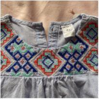 Camisa com detalhe bordado - 4 anos - Carter`s