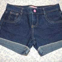 Shorts Jeans Azul escuro tam 10 - 10 anos - Figurinha