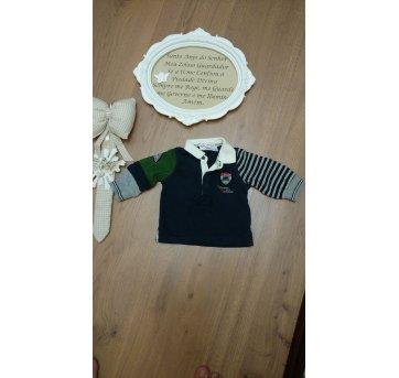 Camisa Manga Longa Chicco Para bebês até 56cm - 3 a 6 meses - Chicco