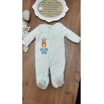 Macacão Urso Forrado Teddy Boom 3 a 6 meses ( bebês com até 67 cm de altura) - 3 a 6 meses - Teddy Boom