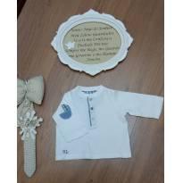 Blusa Canelada Ralph Lauren - Tam 6 meses - 6 meses - Ralph Lauren