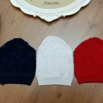 Kit de Toucas de Lã - Tam 3 a 6 meses - 3 a 6 meses - Não informada
