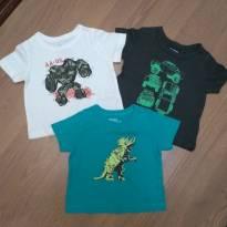 Trio de Camisetas Manga Curta Oshkosh Bgosh - Tam. 6 Meses NOVAS - 6 meses - OshKosh