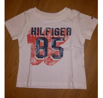 Camiseta Branca Tommy Hilfiger Tam 12 Meses - 1 ano - Tommy Hilfiger