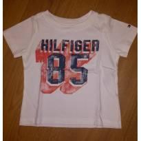 Camiseta Branca Tommy Hilfiger Tam 12 Meses - 1 ano - Tommy Hilfiger