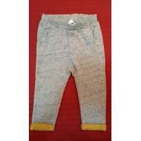 Calça Zara Baby Cinza com Mostarda - TAM 18 a 24 meses