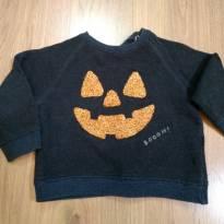 Blusa Moletom Zara Halloween Tam 12 a 18 meses - 12 a 18 meses - Zara