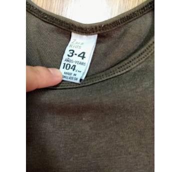 Camiseta Manga Longa Marrom - Zara - 3 a 4 anos - 3 anos - Zara