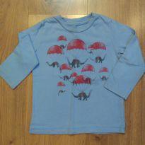 Camiseta manga longa  Baby Gap Para-quedas Tam 2 - 2 anos - Baby Gap