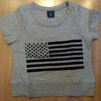 Camiseta Gap Cinza 12 a 18 meses