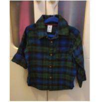 Camisa Carter`s Xadrez Azul e Verde 18 meses - 18 meses - Carter`s