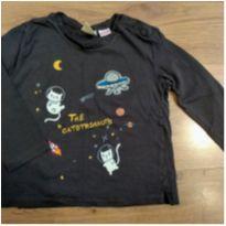 Camiseta Manga longa Astronauta Zara 2 a 3 anos - 24 a 36 meses - Zara