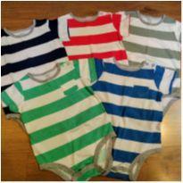 Kit 5 Bodies Carter`s Tam 18 meses (pouco uso) - 18 meses - Carter`s