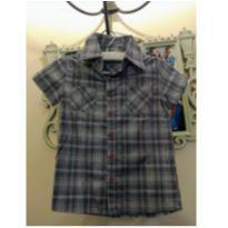 Camisa Nosh Cinza e Vermelho - Tam 4 (forma pequena, veste 2 a 3 anos) - 24 a 36 meses - Nosh