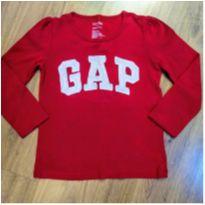 Camiseta Manga Longa Vermelha Baby Gap TAM 4 - 4 anos - Baby Gap