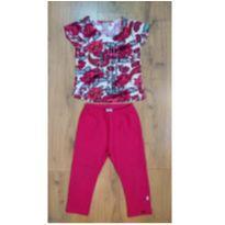 Conjunto Pink Puc (camiseta e corsário) - Tam 4 - 4 anos - PUC