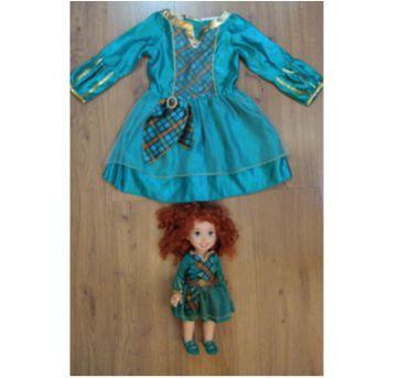 Vestido Valente + Boneca Valente (vestida igual) Original - 2 a 4 anos - Sem faixa etaria - Disney
