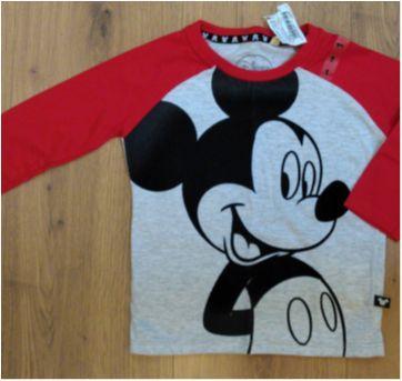 Camiseta Disney Mickey NUNCA USADA Tam 1 (forma grande, veste 2) - 12 a 18 meses - Disney