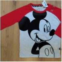Camiseta Disney Mickey NUNCA USADA Tam 1 (forma grande, veste 2)