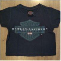 Camiseta Cinza Harley Davidson Tam 2 - 2 anos - Harley Davidson