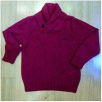 Blusa de lã Vinho Richards - Tam - 2/3 anos - 24 a 36 meses - Richards Kids