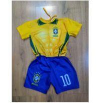 Fantasia Futebol Musculoso - Oficial Brasil - Tam 2/3 anos - 24 a 36 meses - BRASIL BABY