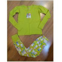 Pijama Oshkosh Verde Bonecos de Neve - Tam 4 - 4 anos - OshKosh