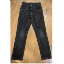 Calça Jeans Preta Skinny - Tam 4 - 4 anos - Não informada
