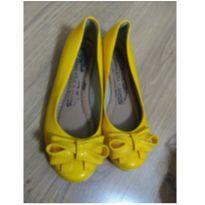 Sapato Laço Amarelo - Tam 28 - 28 - Não informada