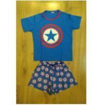 Pijama Capitão América - Tam 2 - 2 anos - Não informada