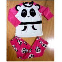 Pijama em Fleece Pandinha Puket - Tam 6 (beeem quentinho) - 6 anos - Puket