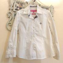 Camisa Dudalina Branca - Tam 6 - 6 anos - Dudalina