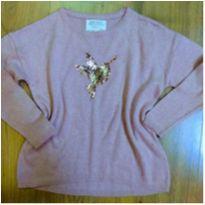 Blusa de Lã Zara Beija Flor Tam 5 - 5 anos - Zara