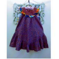 Vestido Fábula Bolinhas - Tam 2 (Forma Grande) - 24 a 36 meses - Fábula