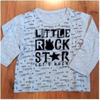 Camiseta Zara Manga Longa Rock - Tam 4 - 4 anos - Zara