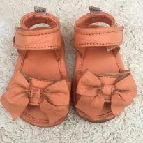 Sandália laranja com laço Mac bebê - 15 - Mac bebê