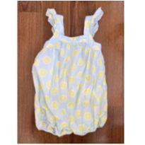 Macacão azulzinho estampa limão siciliano fofo GAP - 12 a 18 meses - Baby Gap