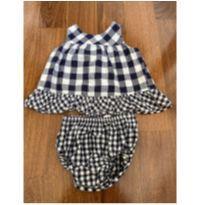 Blusa e calcinha xadrez azul e branco GAP - 12 a 18 meses - Baby Gap