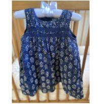 Vestido azul e branco GAP - 12 a 18 meses - Baby Gap