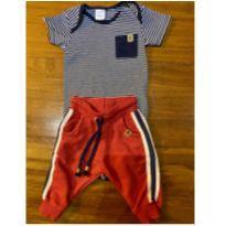 Conjunto body + calça moletom - 3/6M - novo - 3 a 6 meses - Renner